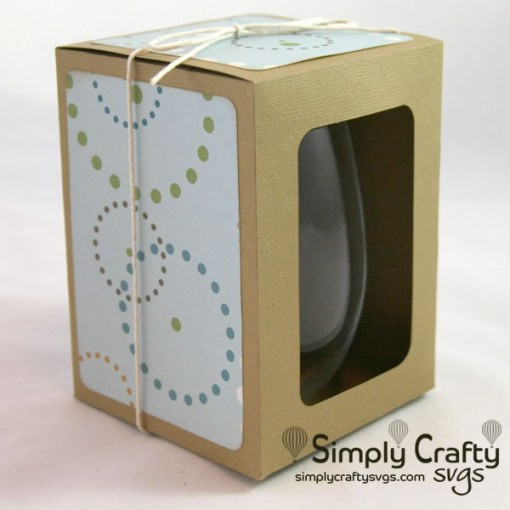Large Stemless Wine Glass Box SVG File