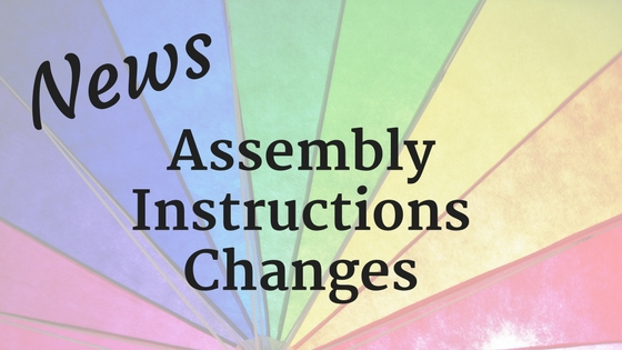 Design Assembly Instructions Changes