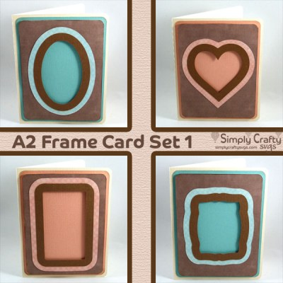A2 Frame Card Set 1 SVG File