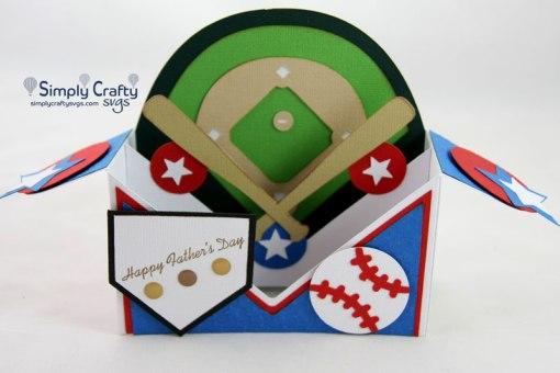 At the Ballpark Box Card SVG File