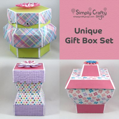 Unique Gift Box Set SVG File