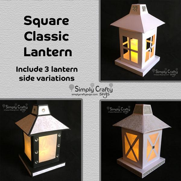 Square Classic Lantern SVG File