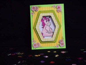 Birthday Unicorn Frame Card by DT Jana