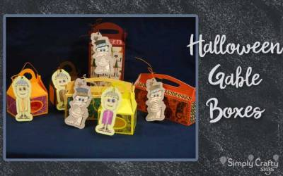 Halloween Gable Boxes by DT Jana