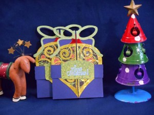 Ornament Tree Double Fold Card by DT Jana