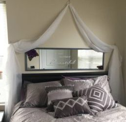Easy Faux DIY Canopy Bed