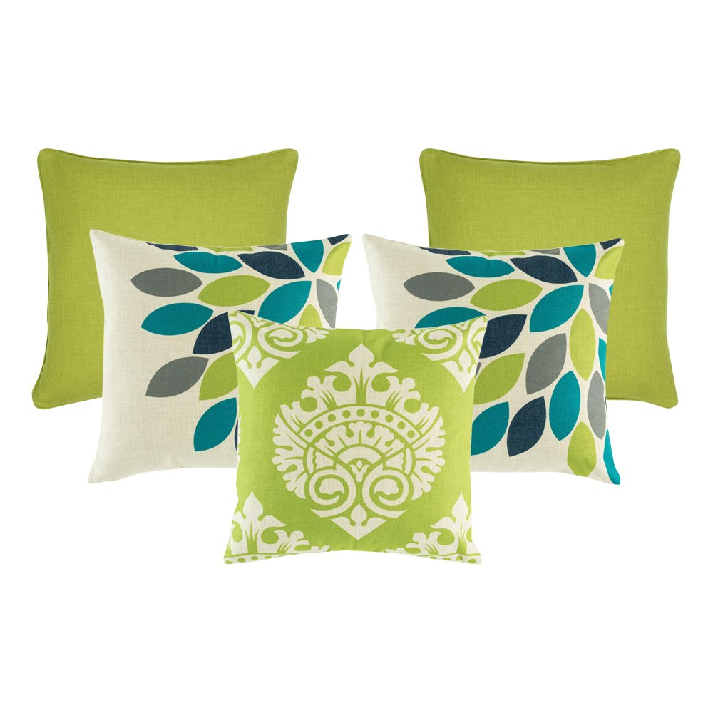 dendy green 5 cushion cover collection
