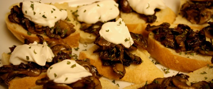 1-13: Crusty Toast with Mushrooms