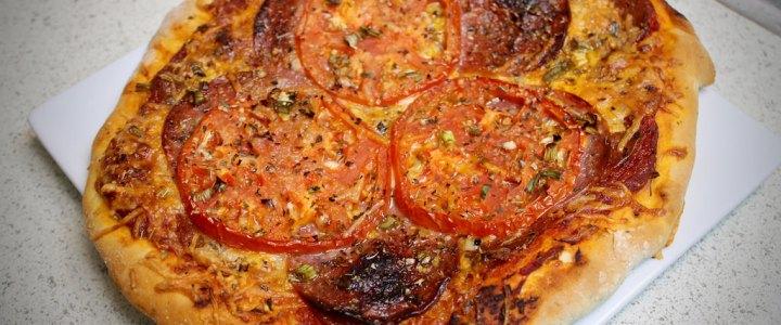 9-16: Individual Salami Pizzas