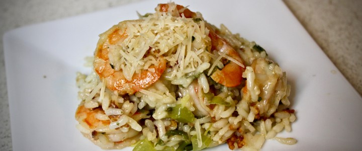 12-25: Parmesan Rice with Shrimp