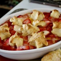 14-22: Strawberry-Peach Cobbler