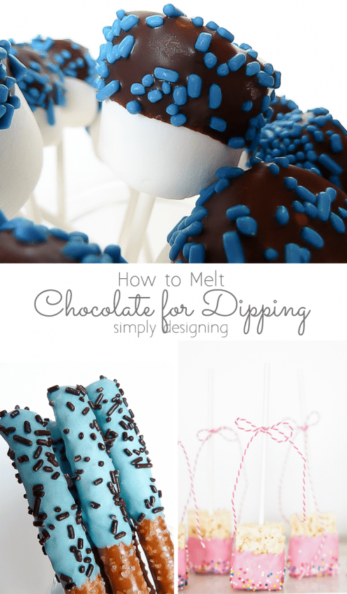 How to Melt Chocolate for Dipping Collage