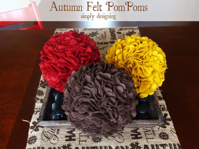 autun felt pompoms