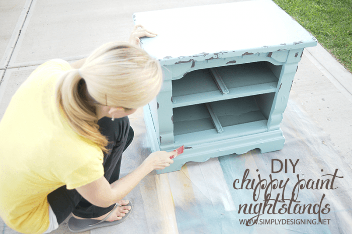 Chip Off Paint  | #diy #paint #furniture