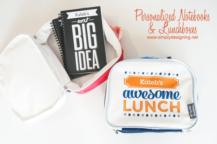 Personalized Notebooks and Lunchboxes