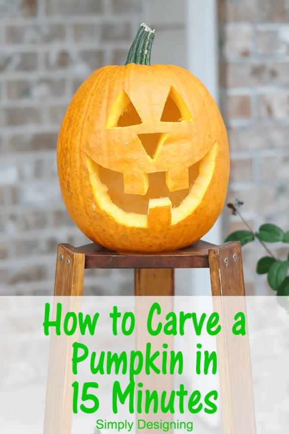 Quickly Carve a Pumpkin #Halloween #pumpkin #pumpkincarving #jackolantern #crafts