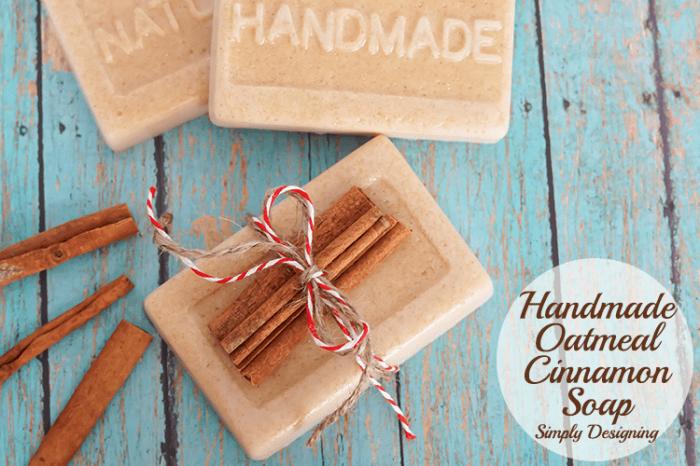 Handmade Oatmeal Cinnamon Soap