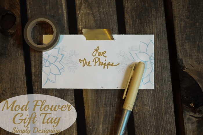 Mod Flower Gift Tag