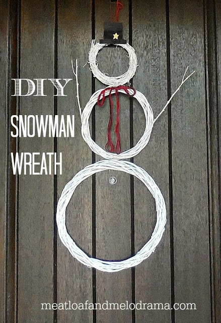 diy snowman wreath 3