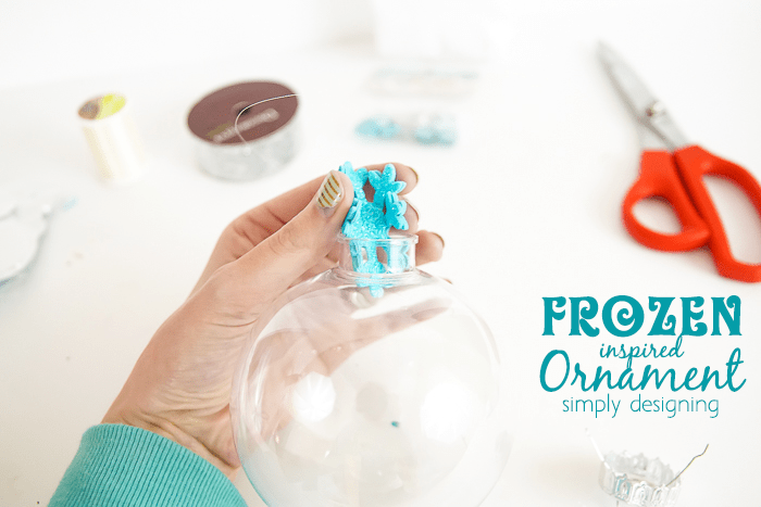 how to make a FROZEN inspired Ornament