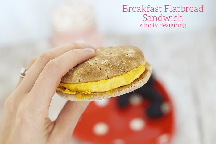 Egg and Bacon Flatbread Breakfast Sandwich