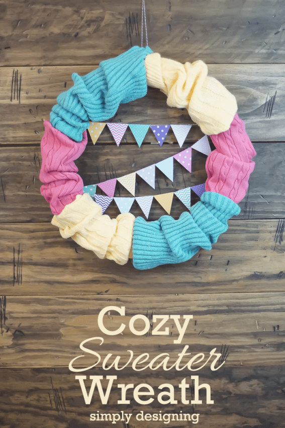 Cozy Sweater Wreath - this is so simple to make but so fun and beautiful