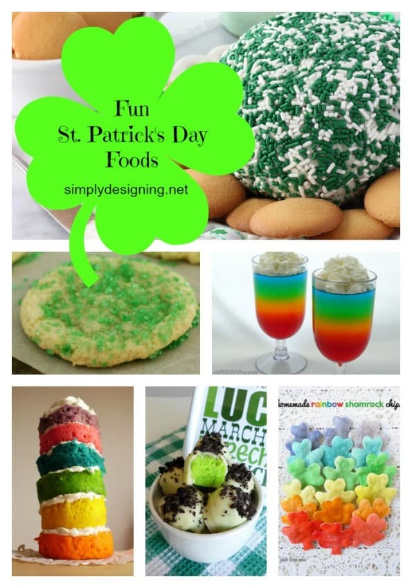 St Patricks Day Food collage