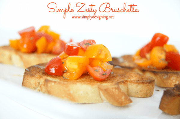 simple zesty bruschetta