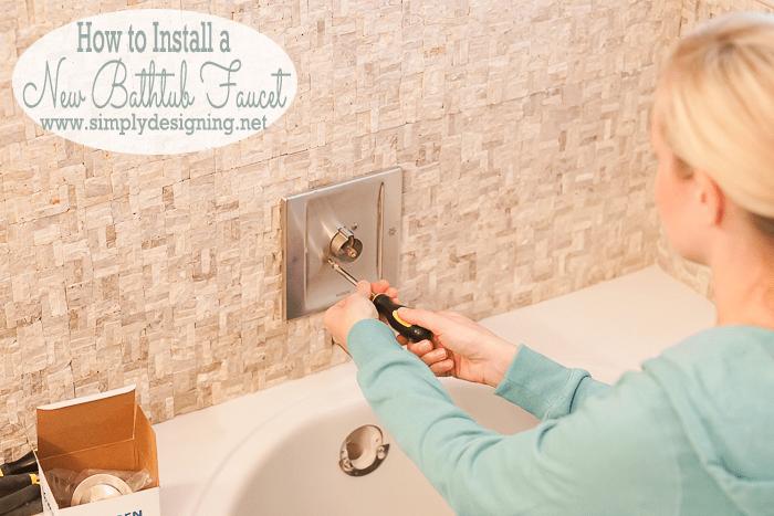 Bathtub Faucet Install