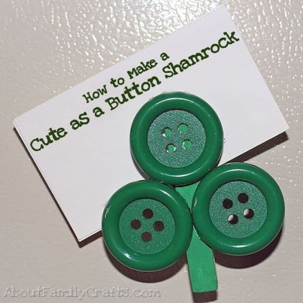 Cute-as-a-Button-Shamrock-Magnet