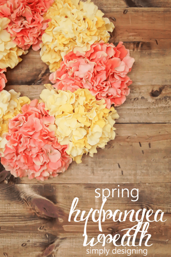 How to Make a Spring Hydrangea Wreath