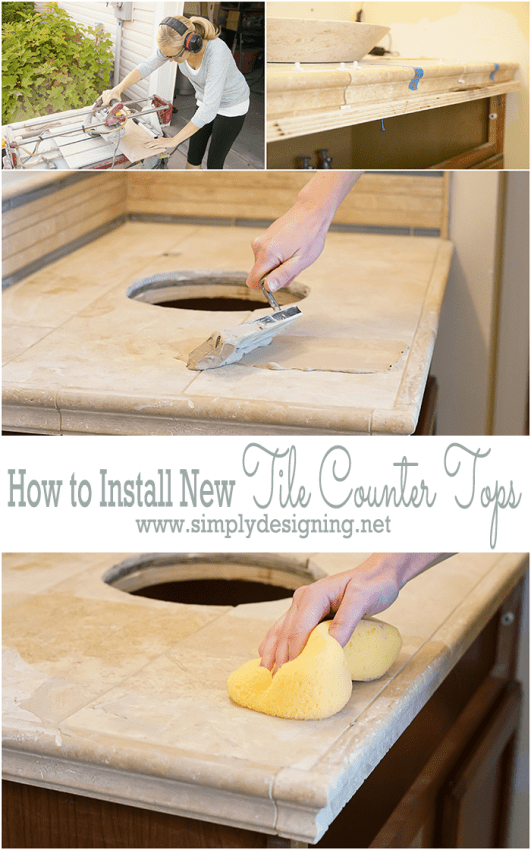 How to Tile New Bathroom Counter Tops