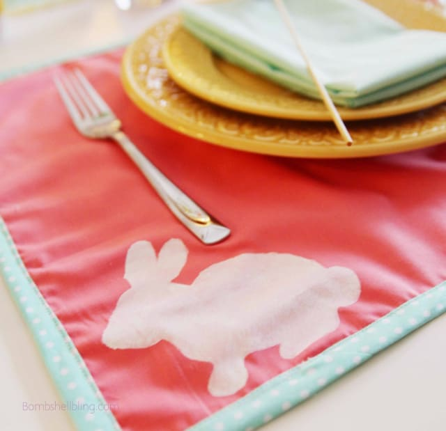 bunny placemats