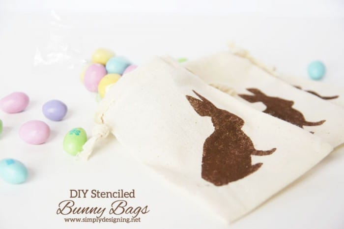 stenciled easter bags