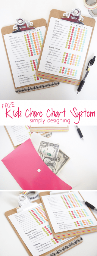 Kids Chore Chart System + Free Printable - this system is the best way to get kids on a regular and consistant chore chart