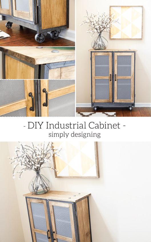 DIY Industrial Cabinet - this is such an amazing DIY - the detail is stunning and the piece is so beautiful