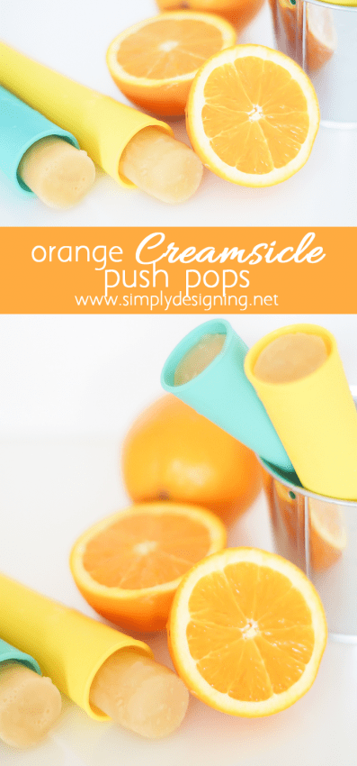 Homemade Orange Creamsicle Popsicles - you only need 2 ingredients to make these delicious frozen treats