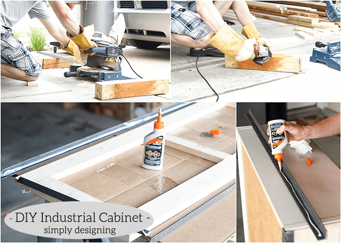 Industrial Cabinet - cut and glue angle iron