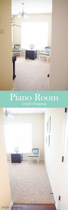 New Carpet - before & after - Piano Room