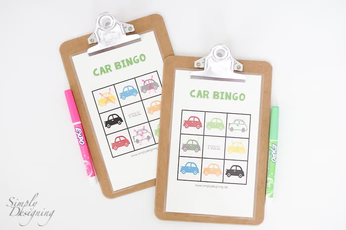 Car Bingo - Road Trip Games and Kids Travel Kit