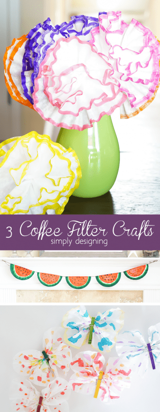 3 Coffee Filter Crafts perfect for little ones