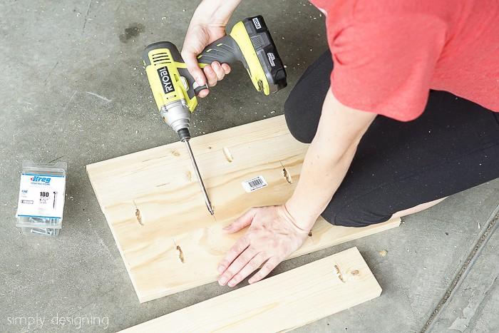 kreg jig wood boards together