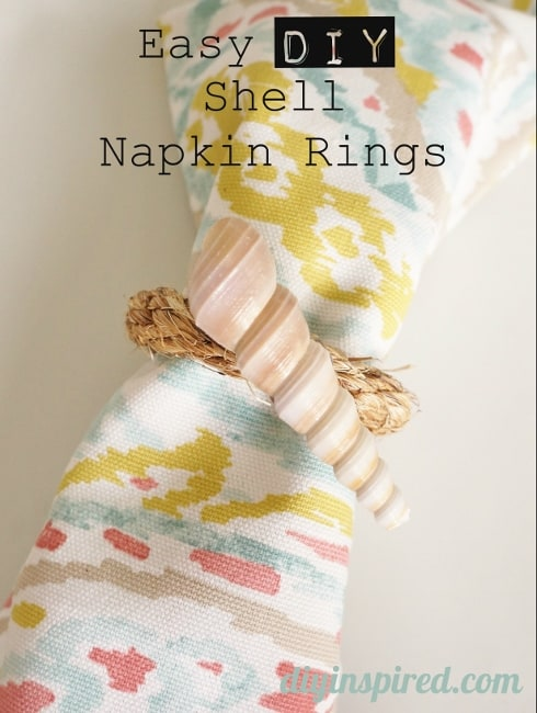 Easy Sea Shell Napkin Rings