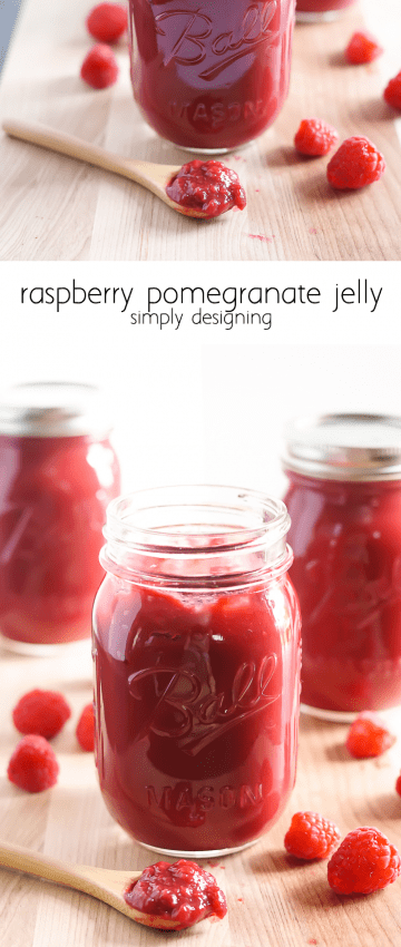 Raspberry Pomegranate Jelly - this recipe is so easy to make and ...