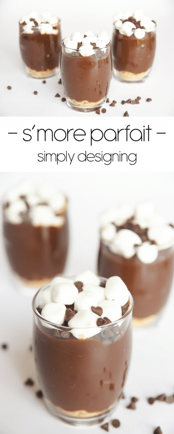 smore parfait recipe - this is so easy to make and a great dessert for kids to help make too - plus it is really yummy
