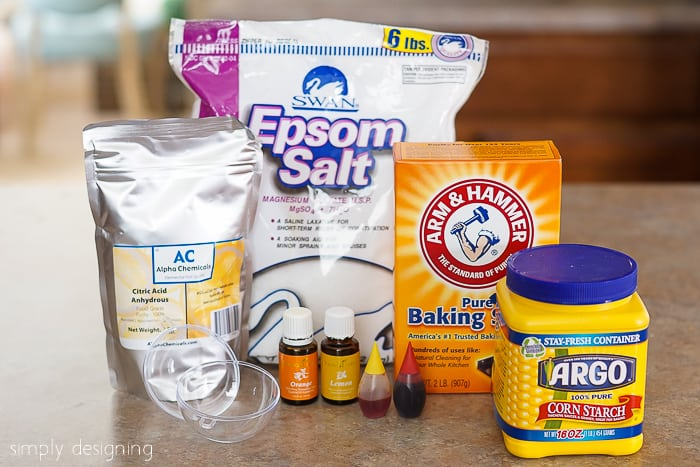 Citrus Bath Bombs ingredients