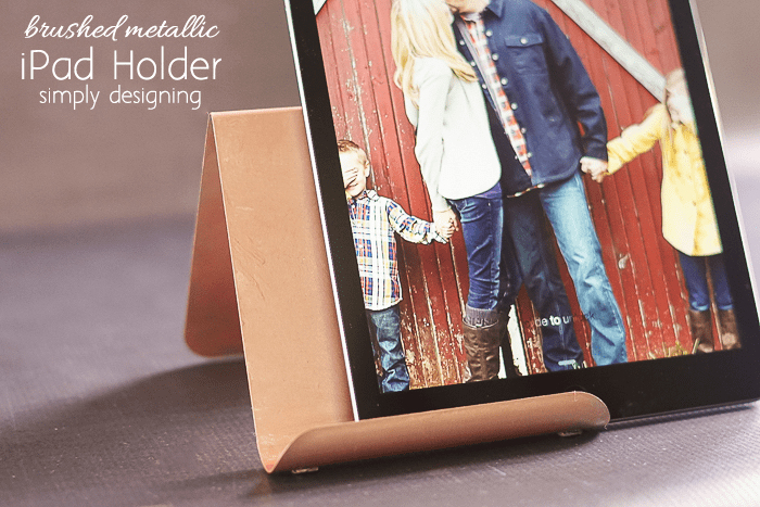 Brushed Metallic Rose Gold iPad Holder