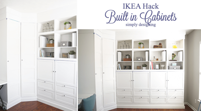 IKEA Hack - Building in Cabinets