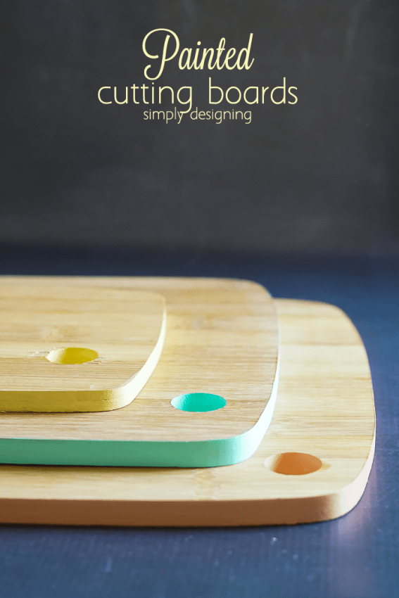 Painted Cutting Boards - such a fun and food safe way to add a little color to an ordinary cutting board