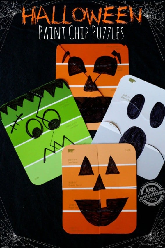 Halloween Paint Chip Puzzles